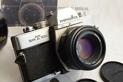 Minolta SR-T100 Camera & MD 50mm f/1.7 Lens/Case - Tested EXC FAST SHIP