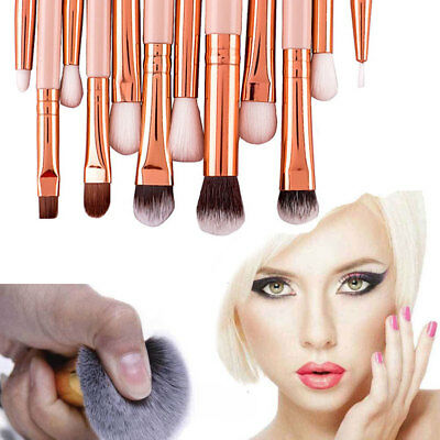 Professional 12pcs Kabuki Make up Brush Set Blending Blusher Eyeshadow Tools