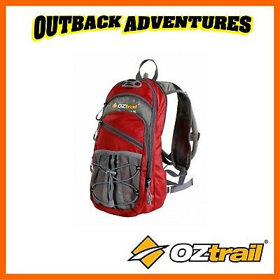 Oztrail Blue Tongue 2 Litre Red Hydration Pack Hiking Back Pack Bladder 2L New