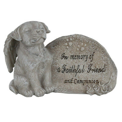 Memorial Dog Statue 16cm In Memory Of A Faithful Friend And Companion