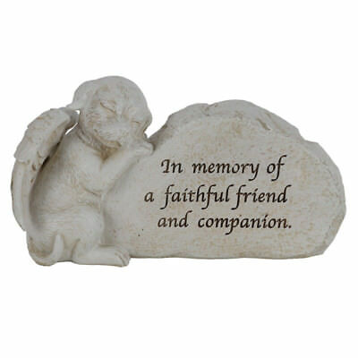Memorial Dog Statue 17cm In Memory Of A Faithful Friend And Companion Plaque