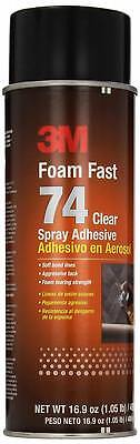 3M Foam Fast 74 Spray Adhesive Clear, (Net Fill: 16.9 fl Ounce)(Pack of 1)