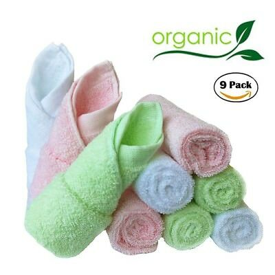 Bamboo Baby Washcloths Natural - Reusable,Extra Soft,Suitable for Sensitive Skin