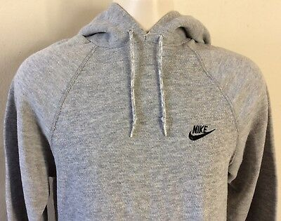 Vtg 80s Early 90s Nike Gray Tag Raglan Hooded Sweatshirt M Hoodie Heather Gray