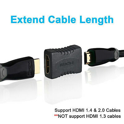 HDMI Joiner Connector Coupler Extender Adaptor Adapter Female to Female, 2/3/5pc