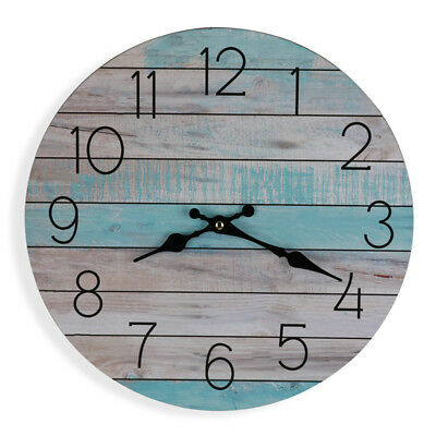 Aqua Boards Wall Clock With Neutral Tones 34cm | Beach Clock Coastal Decor