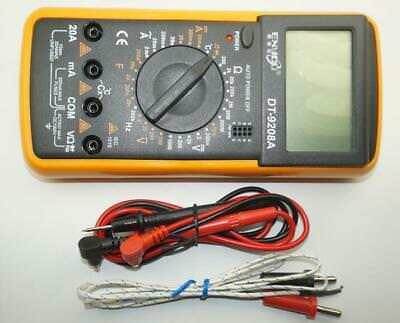 DT-9208 A Digital Multimeter LCD AC/DC Volt Amp Ohm Temperature Hertz Tester