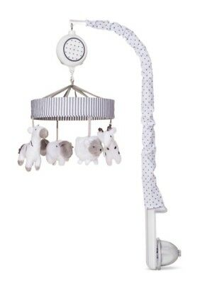 Circo TwoByTwo Gray&White Musical Mobile: Plays Brahms' Lullaby !!New in Box!!