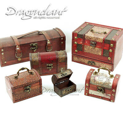 CLEARANCE! Oriental Wooden Box Trunk Jewellery Incense Storage Treasure Chest