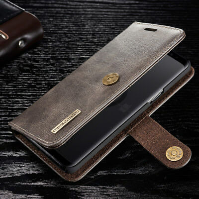 For Samsung S9 S10 Note 9 S10+ Magnetic Leather Wallet Card Removable Case Cover