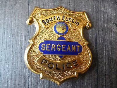 Metallbrustabzeichen, Badge, South Euclid Police,Dienstgrad Sergeant, Ohio, USA