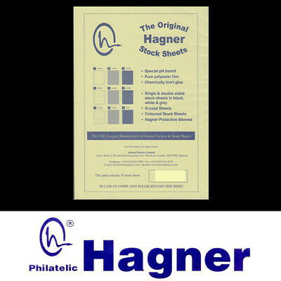 Hagner Stamp Album Sheets Pack of 10 Single Sided - 6 Strips