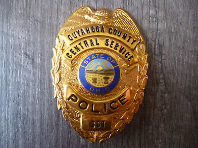 Metallbrustabzeichen (Badge) Cuyahoga County Police, Sergeant, Ohio, USA