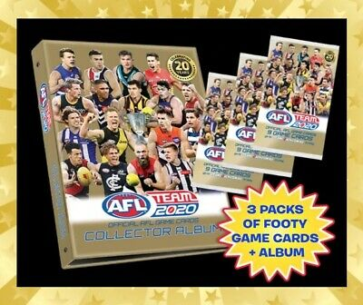 2019 Afl Teamcoach Trading Game Blank Album Folder Holds 234 Cards Team Coach