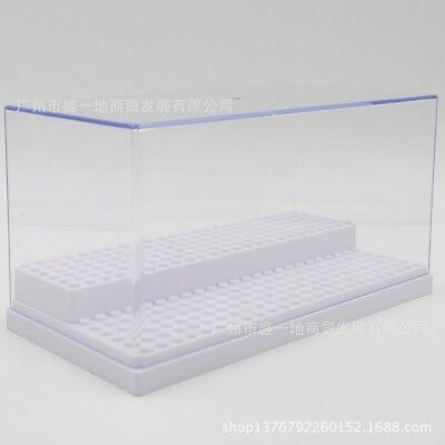 2 Step Clear Display Case Acrylic Plastic Base Box for Lego Minifigures 3 Colors