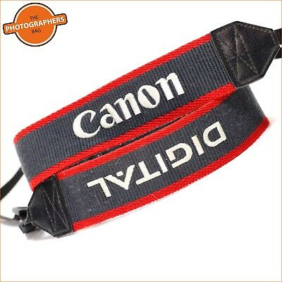 Canon Digital Grey Red & White  Camera Strap  + Free UK Post