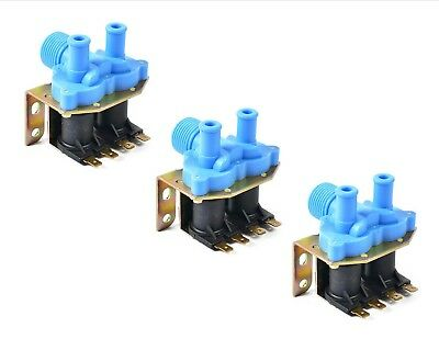 3PK - 9379-183-001 - Good Quality Washer Water Inlet Valve - 2-WAY 110V - Dexter
