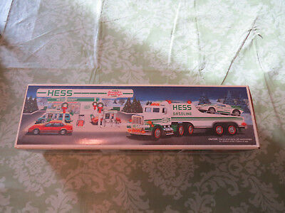 New 1991 Hess Toy Truck And Racer