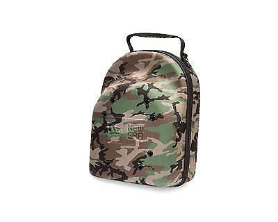 New Era Cap Hat Carrying Carrier Case Handle Fits 6 Hats Camo Bag Zipper Handle