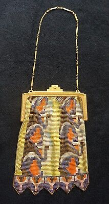 Whiting And Davis El-Sah Beautiful Art Deco Vintage Mesh Purse