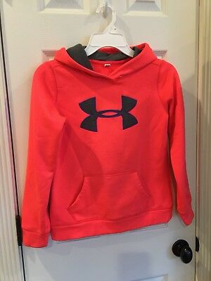 Under Armour Hoodie MEDIUM Girls Peach
