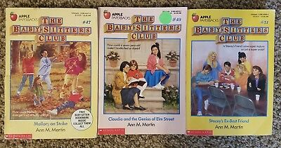 LOT of THREE Books from the Baby-Sitters Club series by Ann M. Martin #47, 49, 5