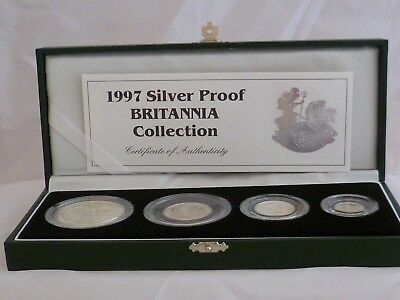 Boxed Royal Mint Silver Proof 1997 Britannia Collection