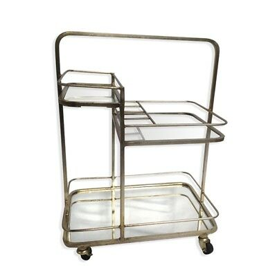 Lanesborough Three Tier Drinks Cart Trolley In Gold Finish