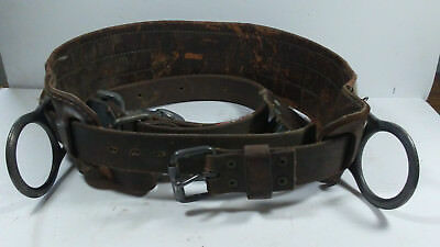"""Vintage! """"bell System 'e' Lineman's Body Belt (Dated 8-80) And Safety Strap"""""""