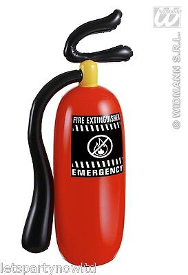 Inflatable Blow Up Fire Extinguisher Fireman Carnival Fancy Dress Costume