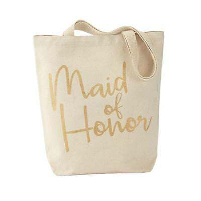 WEDDING Party Canvas Tote Bag by MUDPIE - Maid of Honor  4485019M Brand New