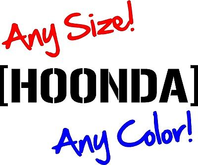Hoonda Honda Windshield Decal vinyl sticker si s2000 crx JDM civic Hoon hoonigan