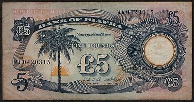 BANK OF BIAFRA 5 POUNDS: ND [1968] PICK 6a