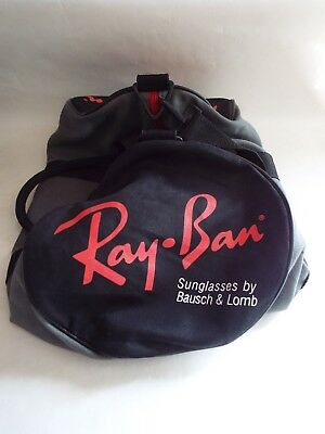Vintage B&L Ray Ban Sunglasses Duffel Bag - 1980's Bausch and Lomb