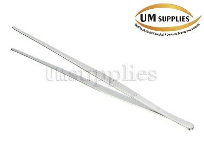 "Handy 12"" Extra-Long Tweezers Instruments Forceps Stainless Steel New"