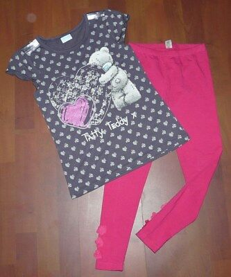 "GEORGE tolles Shirt,Tatty Teddy,Herzen & TU Leggings Gr.128-134,""next UK set"""