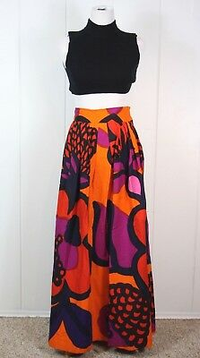 Vintage Marimekko OOAK Long Skirt - 1969 OONA Fabric Maija Isola