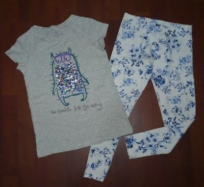 NEXT tolles Shirt,tolles Motiv & NEXT Blumen-Schmetterlings-Leggings Gr. 134