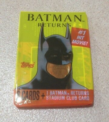 1992 Topps Batman Returns (Movie) - Wax Pack (Collector's Magazine Variation)