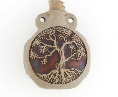 High Fired Ceramic Tree of Life Bottle or Vessel