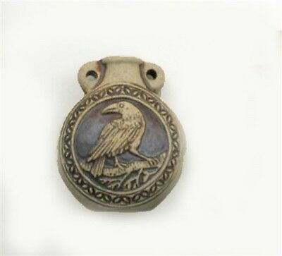 High Fired Ceramic Raven or Crow Vessel or Bottle