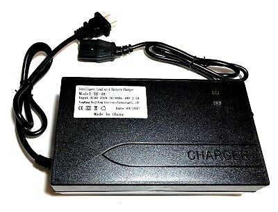 48 Volt 2.5 Amp Battery Charger Electric Scooter or Panterra PC Plug 48V 2.5A