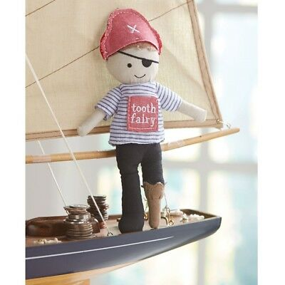 Mud Pie E8 Kids Baby Boutique Boy 9in Pirate Tooth Fairy Doll 2112344
