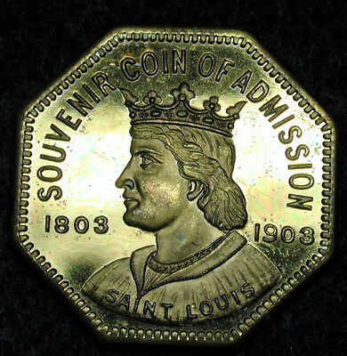 HK-306  1904 Louisiana Purchase Exposition Souvenir Coin of Admission