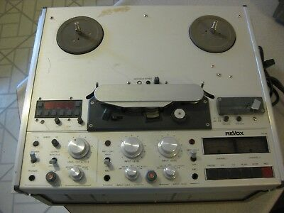 Revox Pr99 Mkii Reel To Reel Tape,powers&plays Not Fully Tested,for Parts As Is