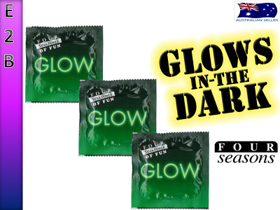 Four Seasons GLOW IN THE DARK Condoms Multi Options - FREE SHIPPING
