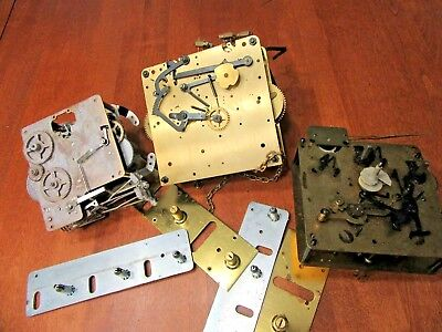 BIG 3  CLOCK MOVEMENTS plus FOR PARTS OR RESTORING / STEAM PUNK (no reserve)