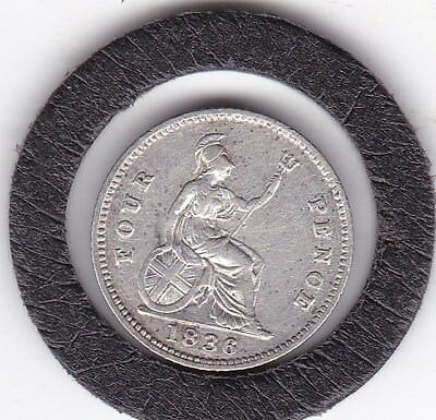 Sharp   1836  King William IV  Four  Pence  (Groat)  Coin  (92.5% Silver)