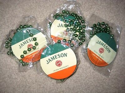 (4) Brand NEW Jameson Irish Whiskey Party Beads for St. Patrick's Day