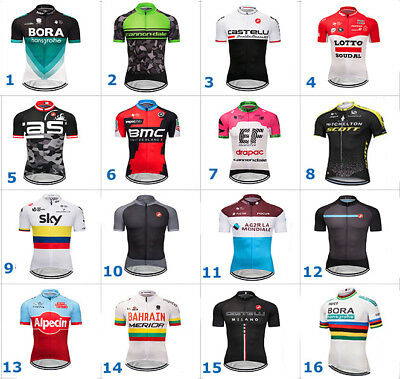 2018 Hombre Ropa Bici Bicicleta Ciclismo Cycling Jersey solo Maillot Maillots
